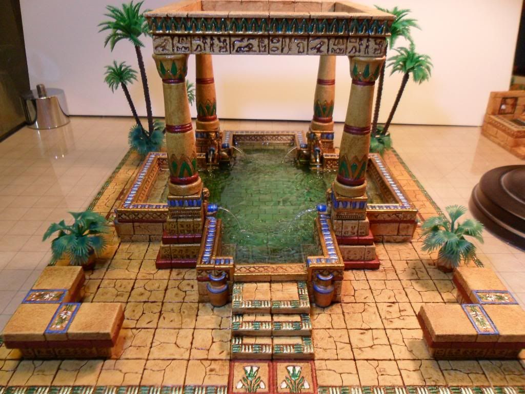 Lady sabelle 39 s 39 egyptian bath 39 miniature scenery for Bathroom designs egypt