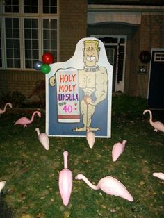 40th Birthday Yard Decorations
