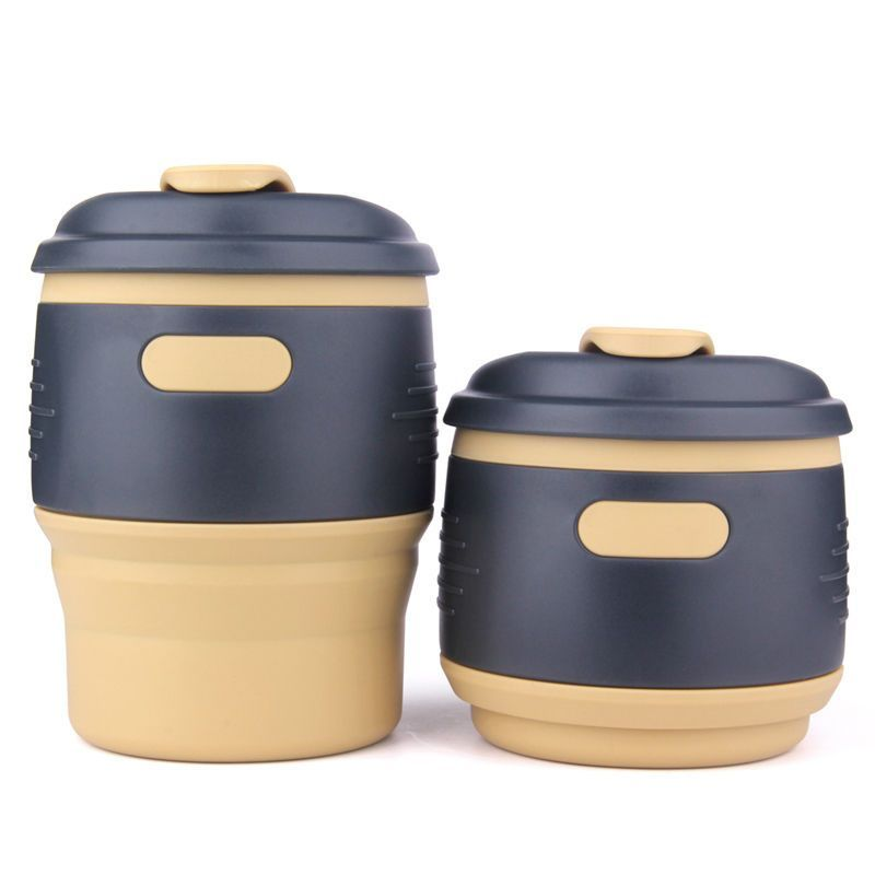 350ml Collapsible Travel Silicone Coffee Mug Handy Tea Cup Take Away Container