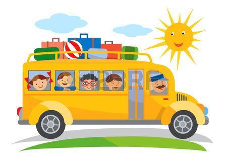 Stock Vector With Images Yellow School Bus School Trip