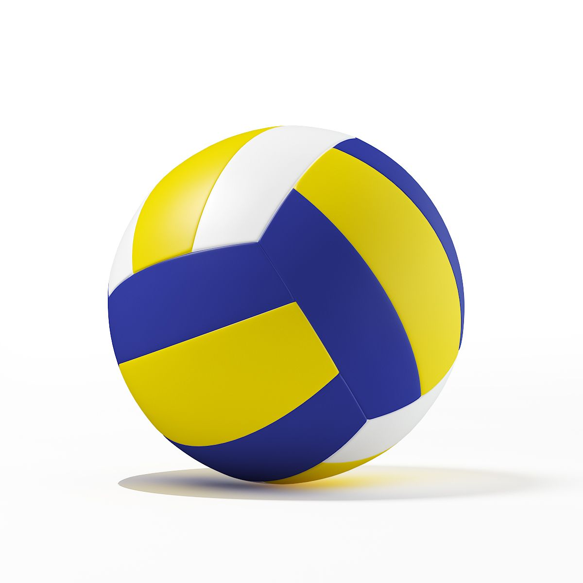 Volleyball Ball On Background Of Grunge Colorful Spots Of Paint Volleyboll