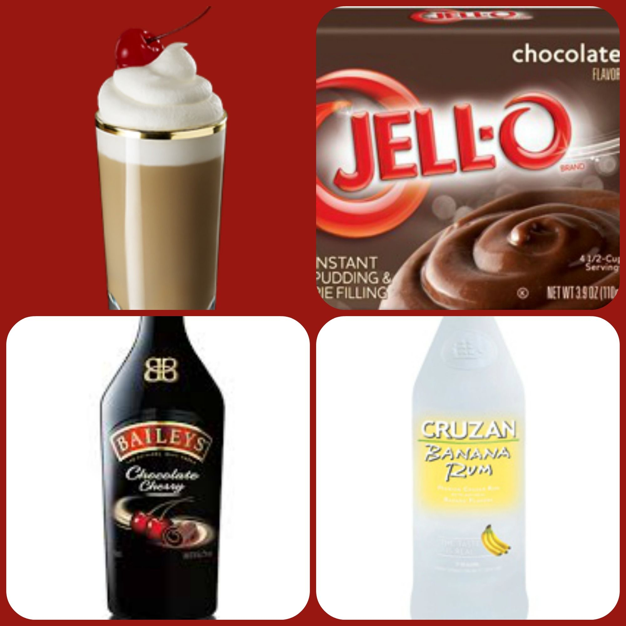 Baileys Chocolate Cherry Sundae Pudding Shots 1 Small Pkg