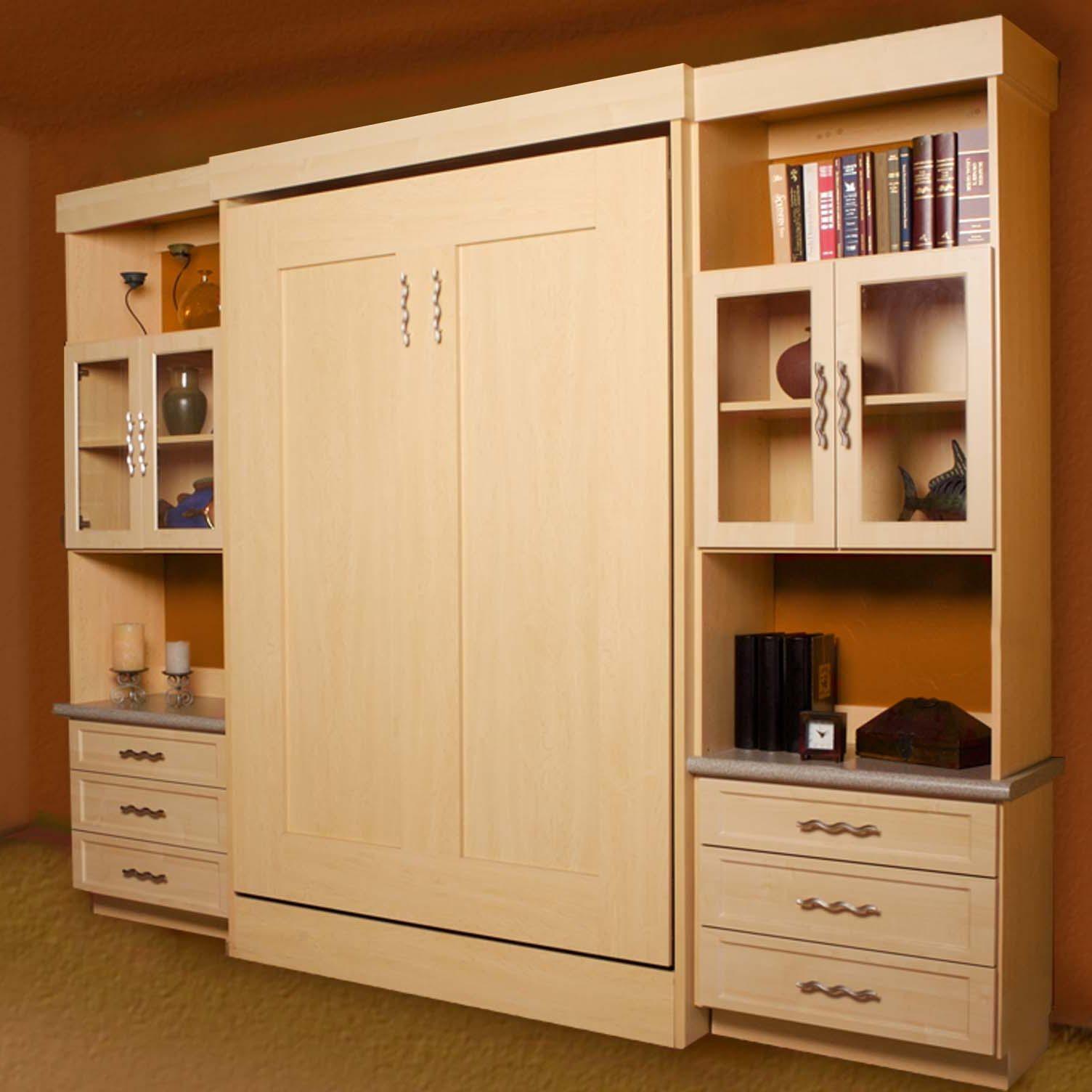 Beautiful Maple Wall bed | murphy bed ideas ikea | Pinterest | Wall ...