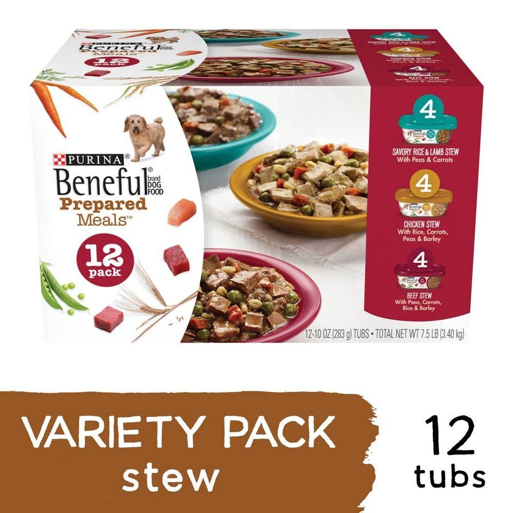 Beneful prepared meals wet dog food variety pack 12ct