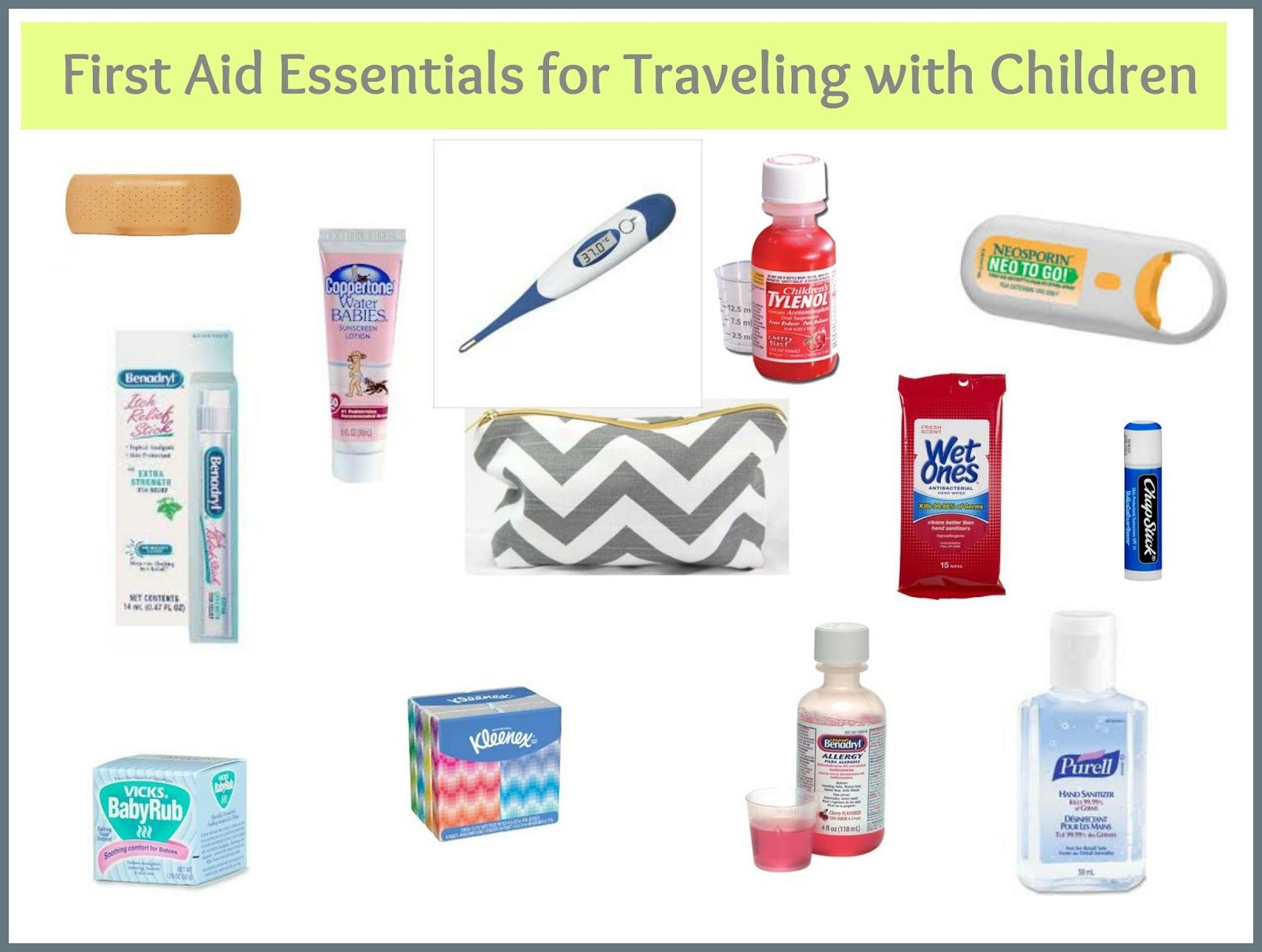 First Aid Travel Essentials Children