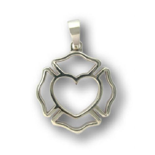 Maltese With Heart Pendant Shared By Lion Firefighter Wife