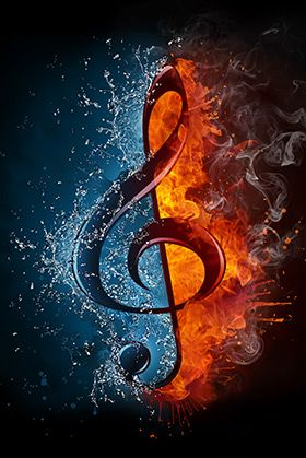 Fire Ice Music Symbol With Images Music Wallpaper Music Art