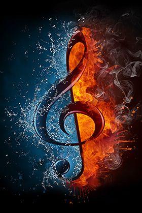 Fire Ice Music Symbol Wallpaper Wall Decor Music Wallpaper Art Music Music Drawings