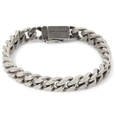 94126b5db4278 Saint Laurent Silver Curb-Link Bracelet | MR PORTER | Watches ...