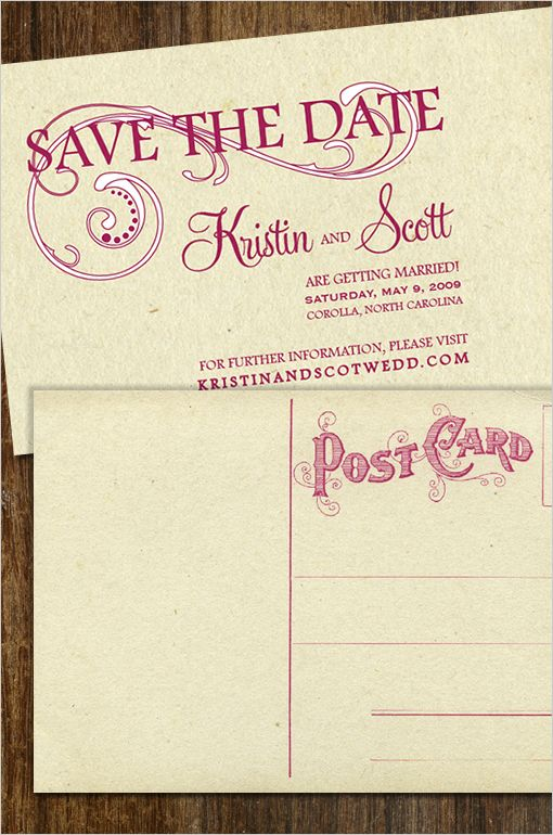 diy do it yourself vintage save the date vintage save the date postcard card print templates download - Free Save The Date Postcard Templates