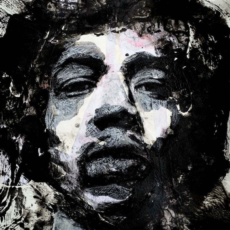 """Buy """"JIMI"""" / Jimi Hendrix, Mixed Media painting by Jody Little on Artfinder. Discover thousands of other original paintings, prints, sculptures and photography from independent artists."""