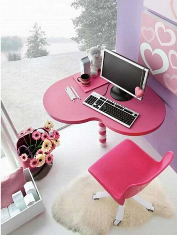 adorable office decorating ideas shape. Girly Office Decor Ideas - The Fab Guide A Cute Pink And Lavender Space With Heart Shaped Desk Just For Girl! Design-h-ideas Adorable Decorating Shape R