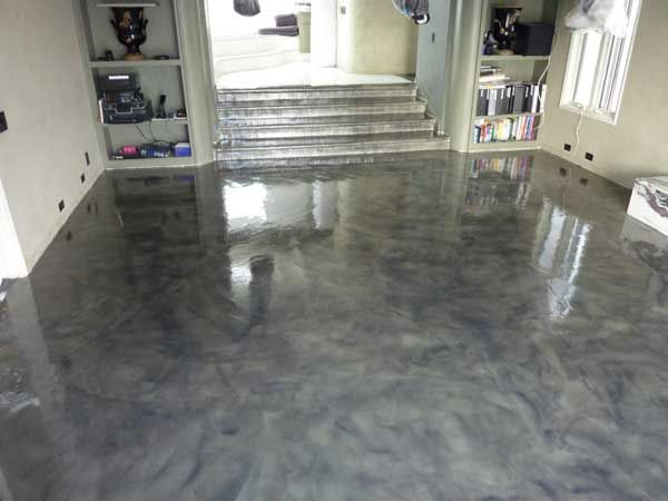How To Paint A Concrete Floor Living Room Pinterest Concrete Floor Concrete And Basements