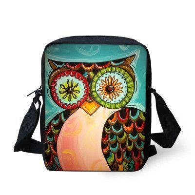 Hot sale Women Ladies Messenger Bag Fashion Handbags Animal Owl Printed Girls Messenger Bags Crossbody Bag For Women Satchel Bag