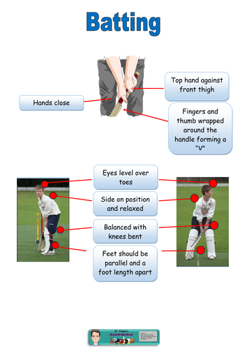 This Resource Has Differentiated Task Cards For Core Cricket Skills Batting Bowling And Wicket Keeping The Card Cricket Wicket Cricket Coaching Cricket Tips