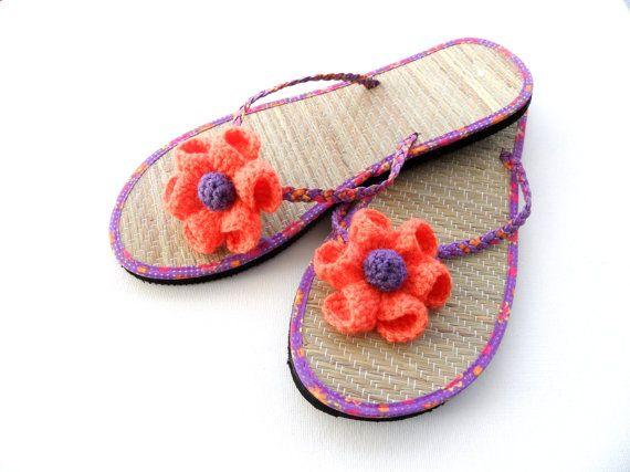 f06b57650866 Crochet Flower Clips Sandal Clips Flip Flop by CraftsbySigita
