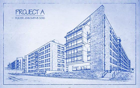 Architects blueprint drawing effect in photoshop photoshop architects blueprint drawing effect in photoshop malvernweather