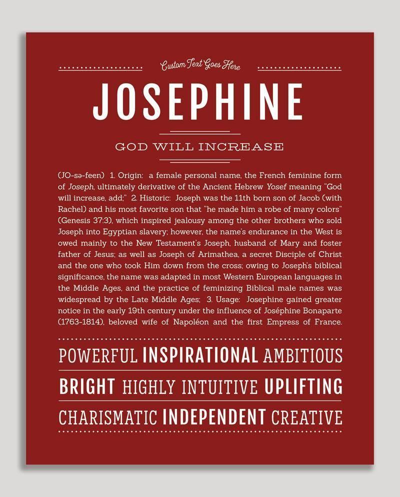 Josephine   Classic Name Print   Classic names, Names ...