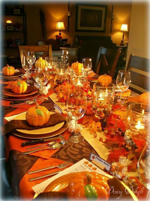 Elegant and Simple Thanksgiving Table Setting Ideas that you can do yourself & Simple Thanksgiving Table Setting Ideas | Pinterest | Thanksgiving ...