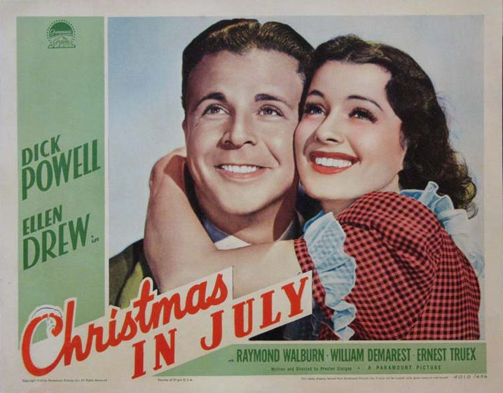 Christmas In July Movie.Christmas In July Sturges 1940 Stars Of Christmas