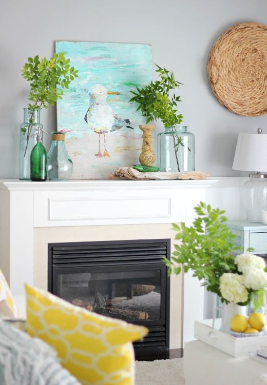 Coastal Summer Mantel Shop the Look images