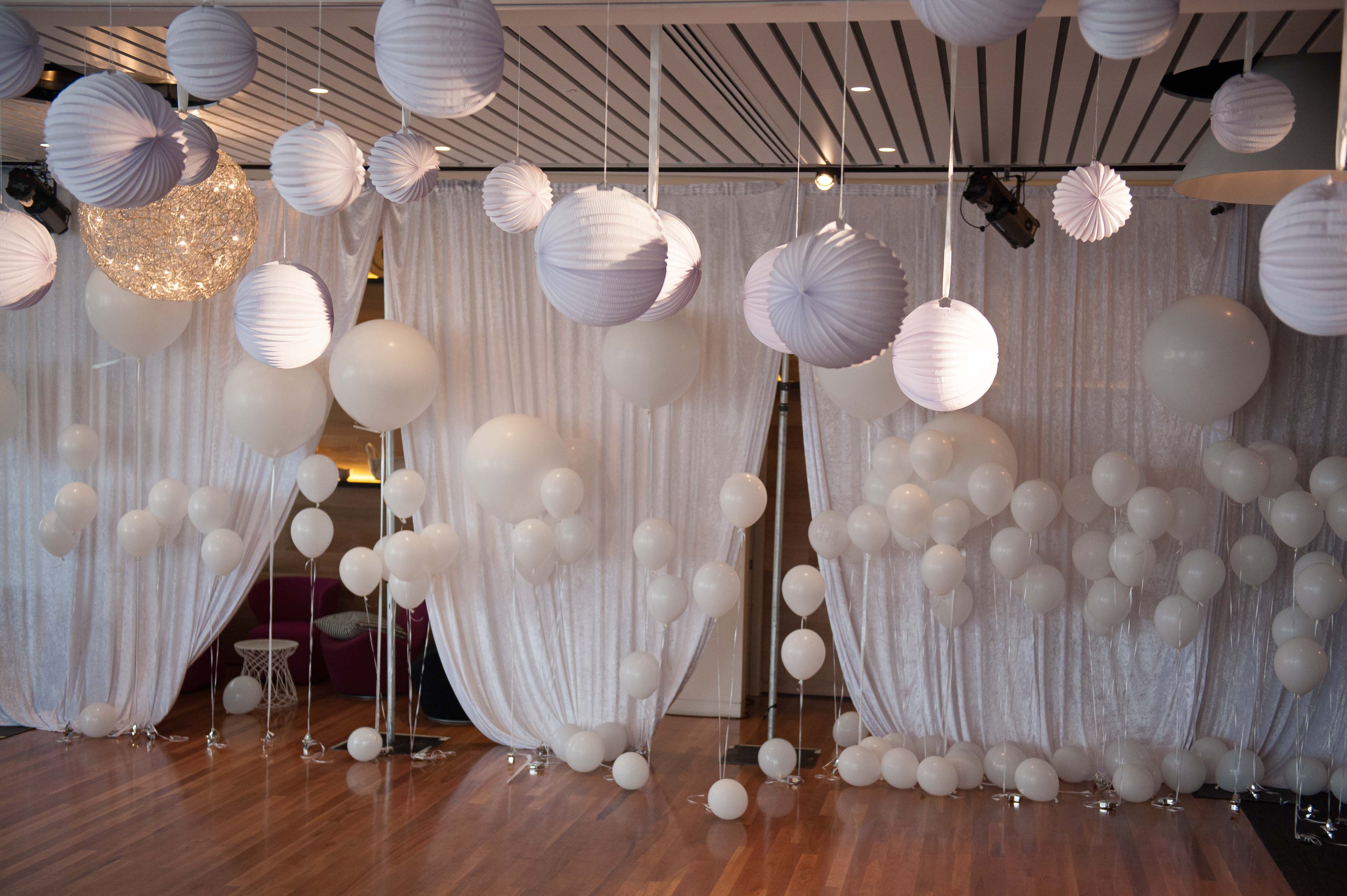 White Balls Hanging White Party Decorations White Christmas