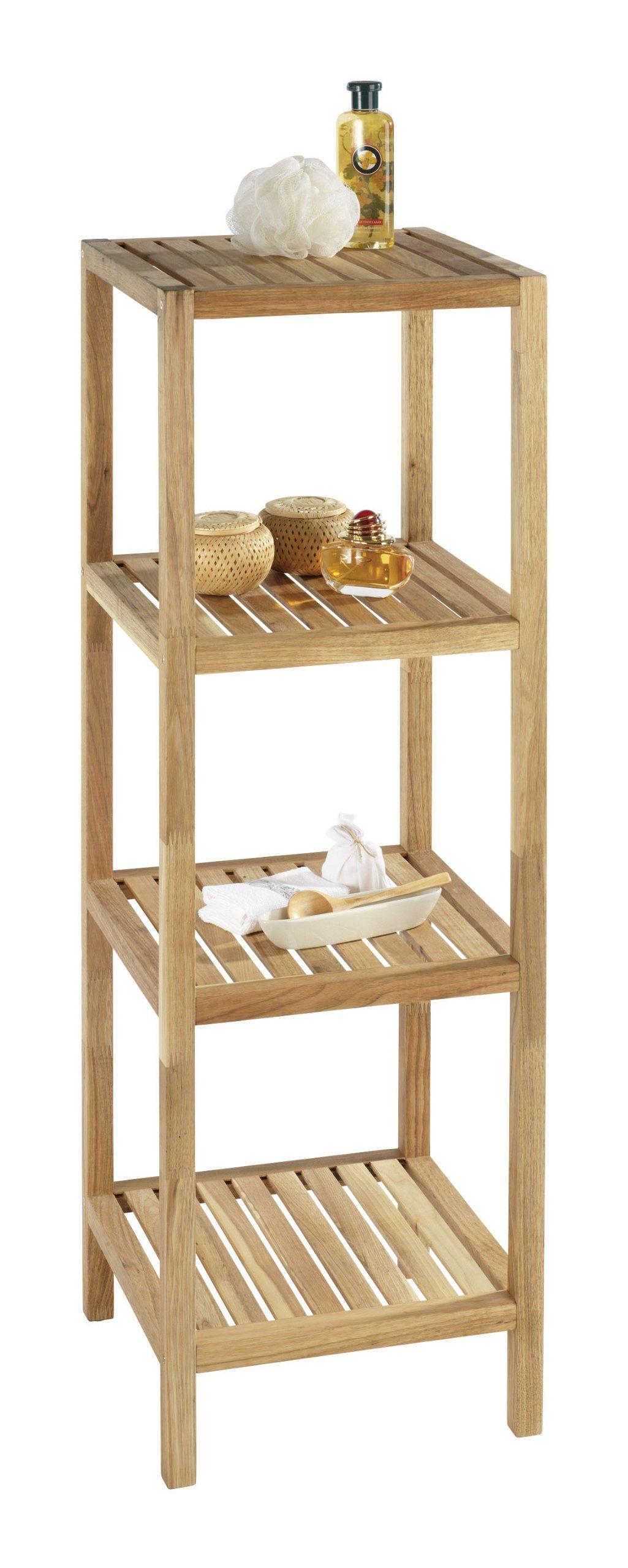 Wenko 18618100 norway estanter a para hogar y ba o con 4 - Estanterias modulares de madera ...