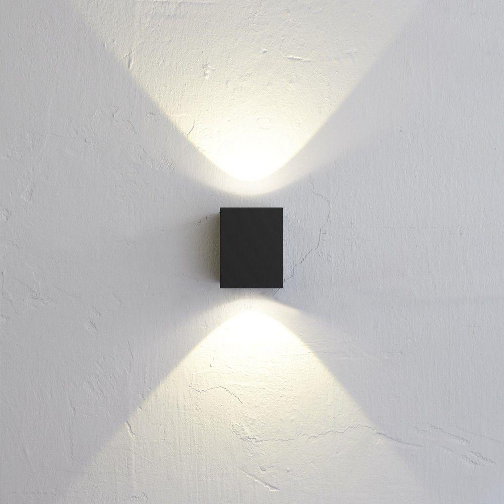 SKAPETZE - Baleno Quadi / LED Wand-Aussenleuchte Up&Down / Schwarz ...