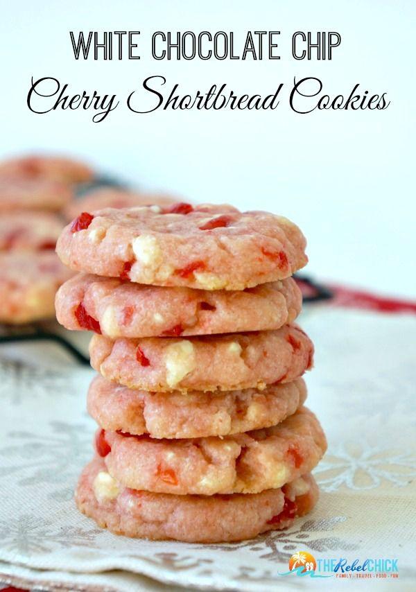 White Chocolate Chip Cherry Shortbread Cookies Recipe