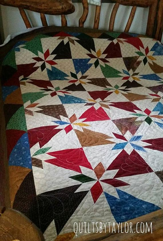 Homemade Quilts For Sale >> Quilts For Sale Hunters Star Quilt Made To Order Handmade Quilt