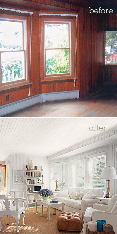 What To Do With Wood Paneling: A Before And After Wood Paneling