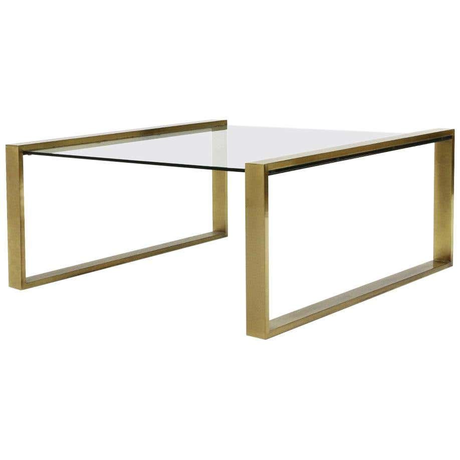 Brass Coffee Table With Rectangular Glass Top 1950s Coffee Table Glass Top Brass Coffee Table [ 918 x 918 Pixel ]