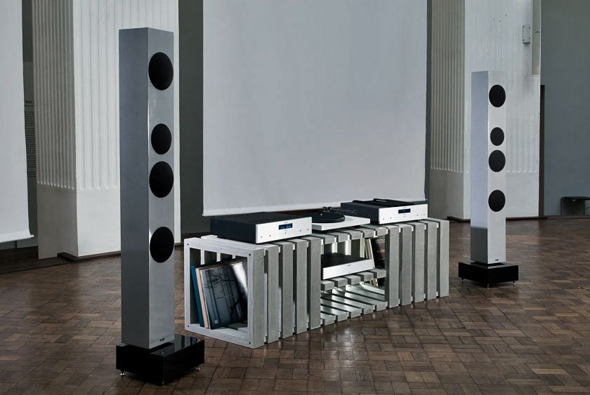 Thorax High End HiFi Lowboard from Concrete by Kompatibel Design ...