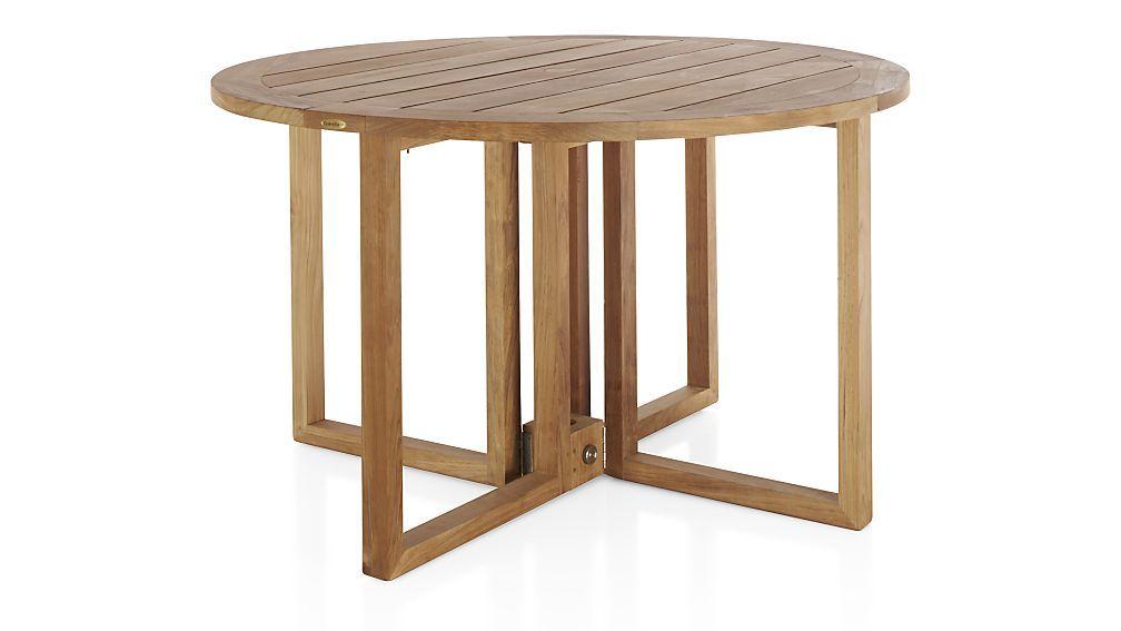 Regatta Round Drop-Leaf Table   Crate and Barrel