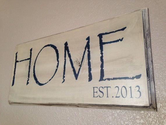 6fb6b167c07d6 Large Home Established Sign, housewarming, wood sign, personalized ...