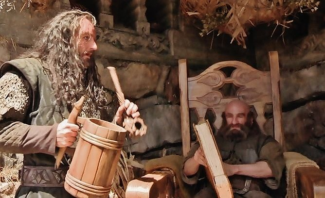 On the set of Beorn's house.
