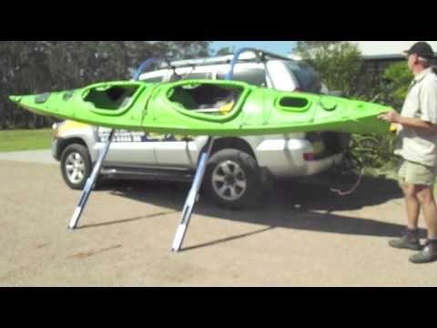 This Side Loading Electric Kayak Loader Is Just Another Great Invention From Boathoist International Australian Ma Tandem Kayaking Kayaking Kayak Bike Trailer