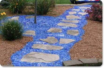 seaglass in landscaping