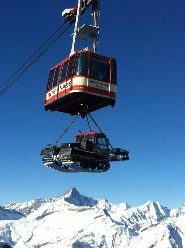 That awkward moment when you get something stuck in your cable car