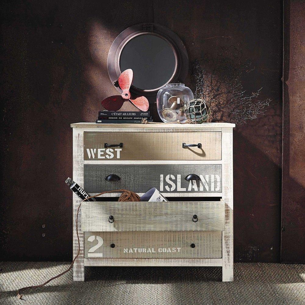 commode en bois blanche l 90 cm room commode bois miroir metal y miroir. Black Bedroom Furniture Sets. Home Design Ideas