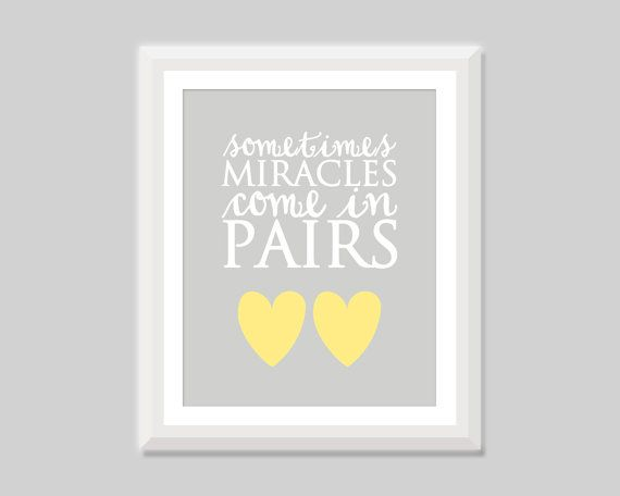 This Listing Is For A Sweet Unframed Twin Nursery Quote Print That