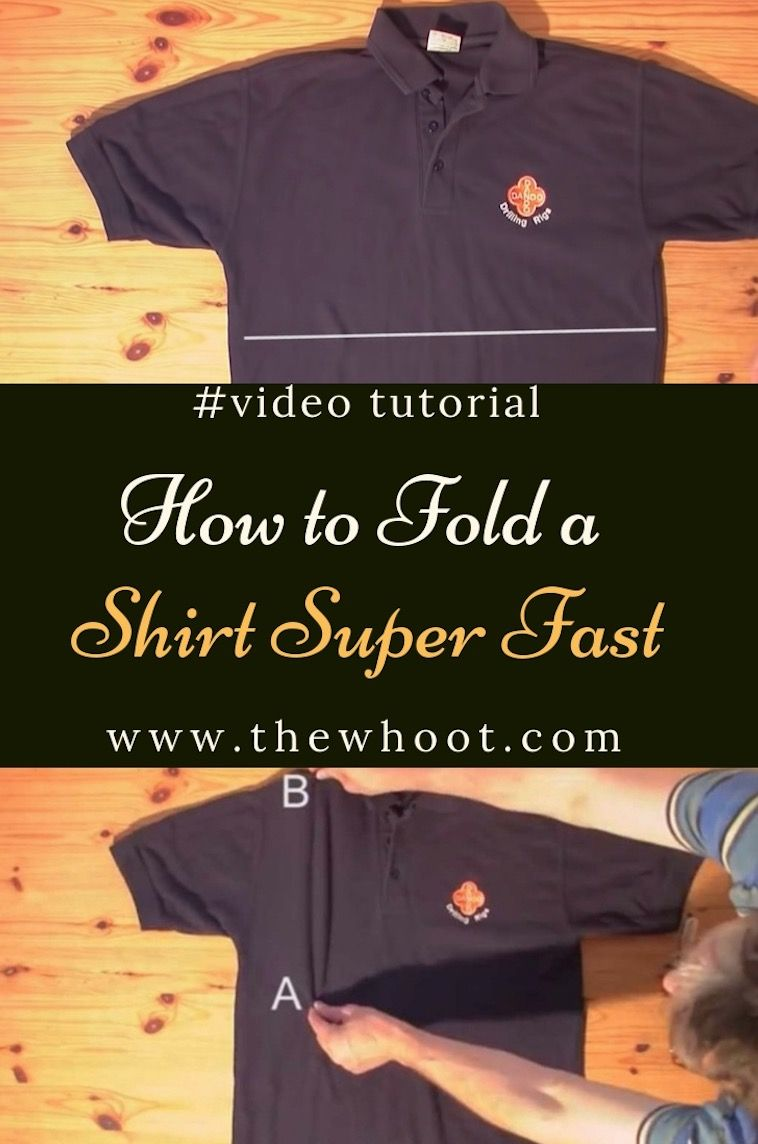 Fold Shirts Fast In Under 2 Seconds Life Hack | Make it and