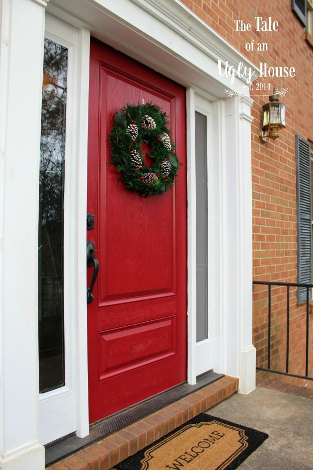 Gorgeous Red Front Door By The Tale Of An Ugly House Modern Masters Non Fade Paint In Color Sophisticated