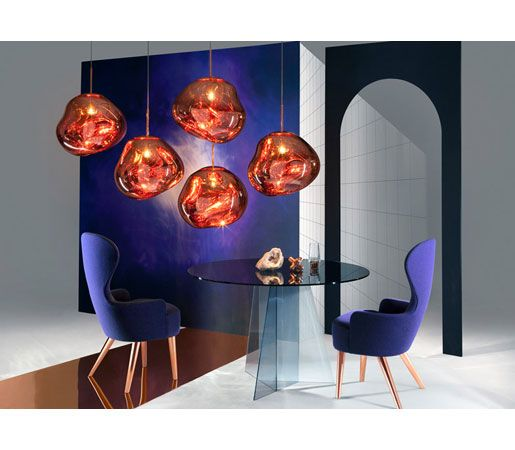 Melt By Tom Dixon With Melt Our Experiments In The Technologically Advanced Field Of Vacuum Metallisatio Copper Pendant Lights Trending Decor Tom Dixon Melt