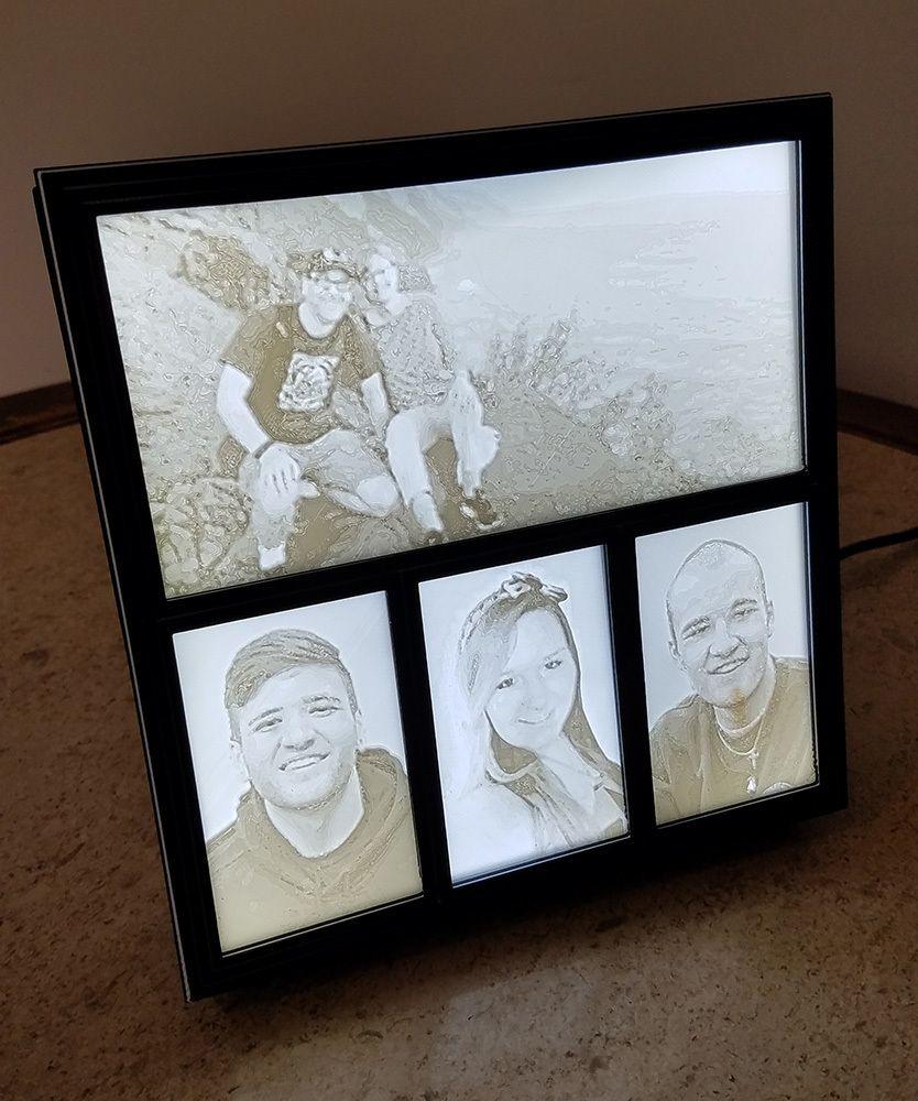 Lithophane Light Box Frame By Nickap Box Frames 3d Printing Projects 3d Printer Designs