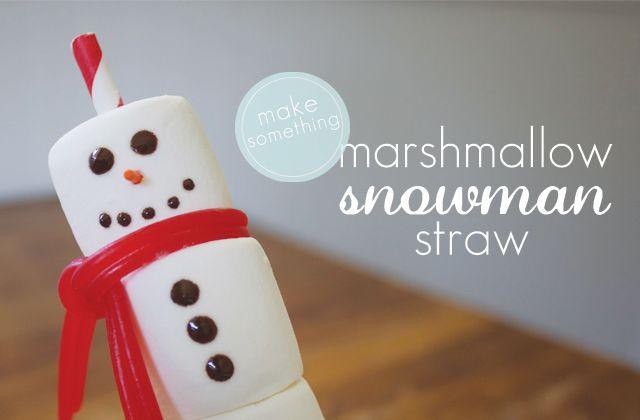 [dandee]: Make Something | Snowman Straw.