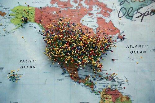 Imagem de map, travel, and america