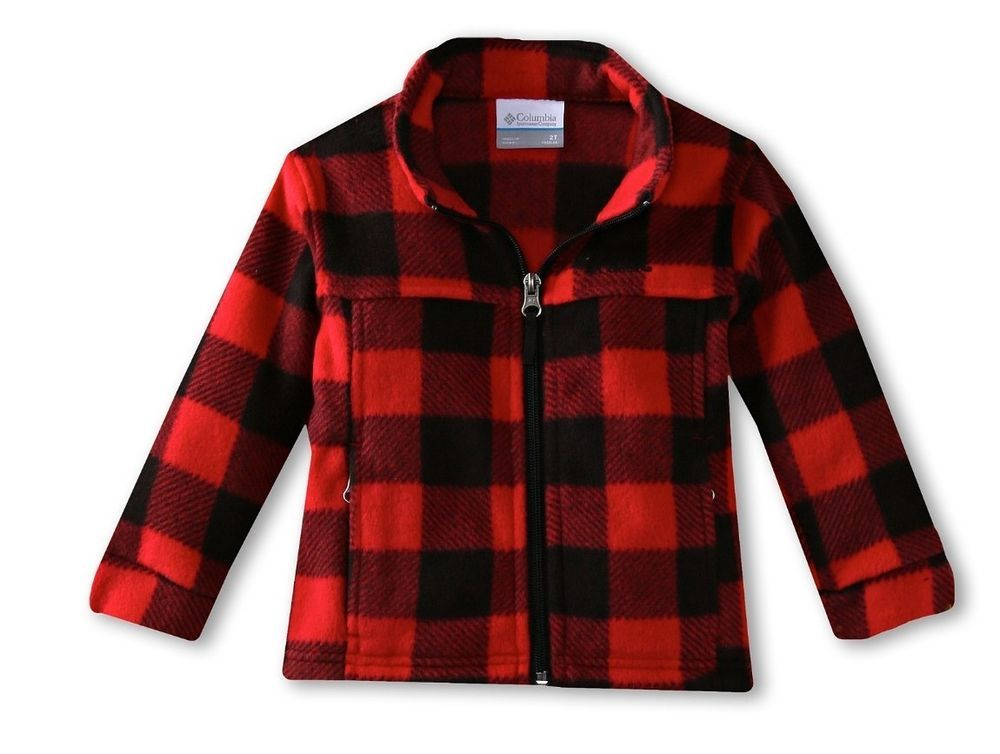 New Toddler Boys Columbia Zing II Red Black Plaid Lumberjack ...