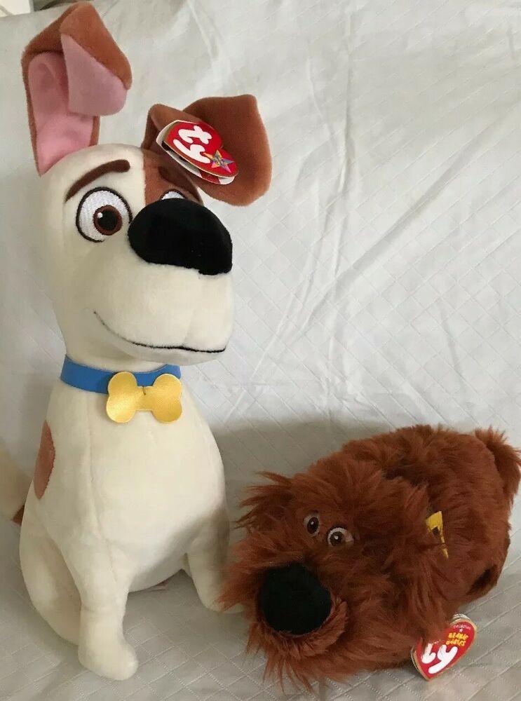 "MAX Ty Beanie Buddy 10"" MWMT Secret Life of Pets & DUKE"