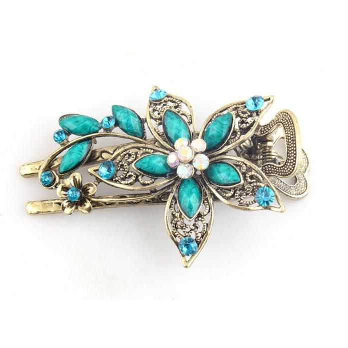 Pack of 2 Barrette Hair Clip with Filigree Hair accessories Millinery
